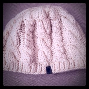 The North Face cable knit winter hat